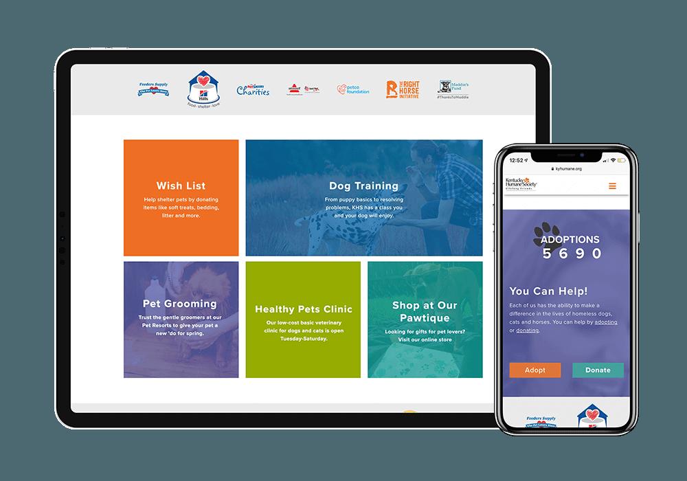 KY Humane Society - Landing Page Mockup