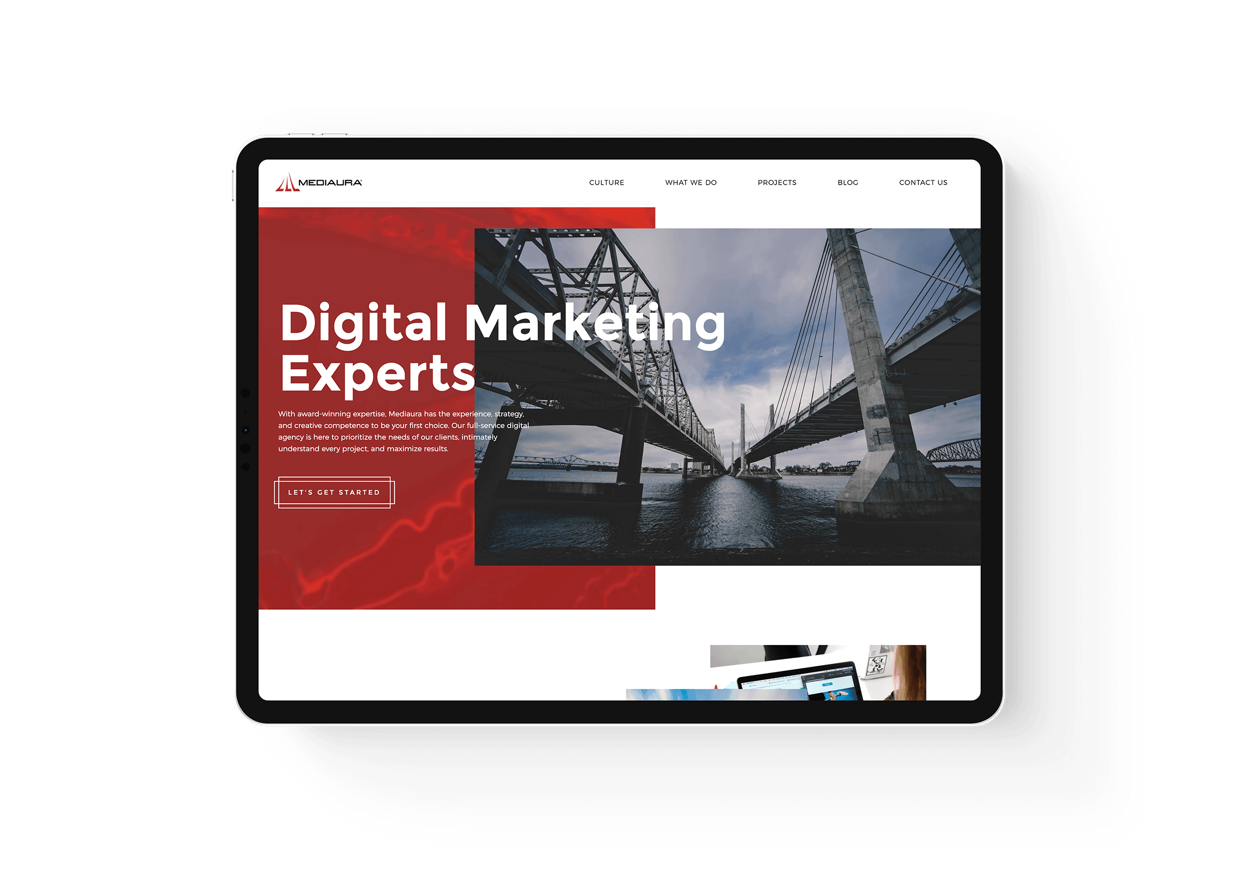 Mediaura - New Site Homepage Mockup