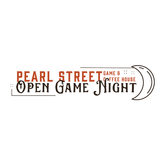 Pearl Street Game & Coffee House - Open Game Night Logo